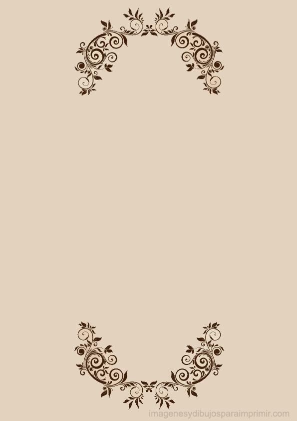 Hojas decoradas para imprimir con flores elegantes for Ramas blancas decoracion