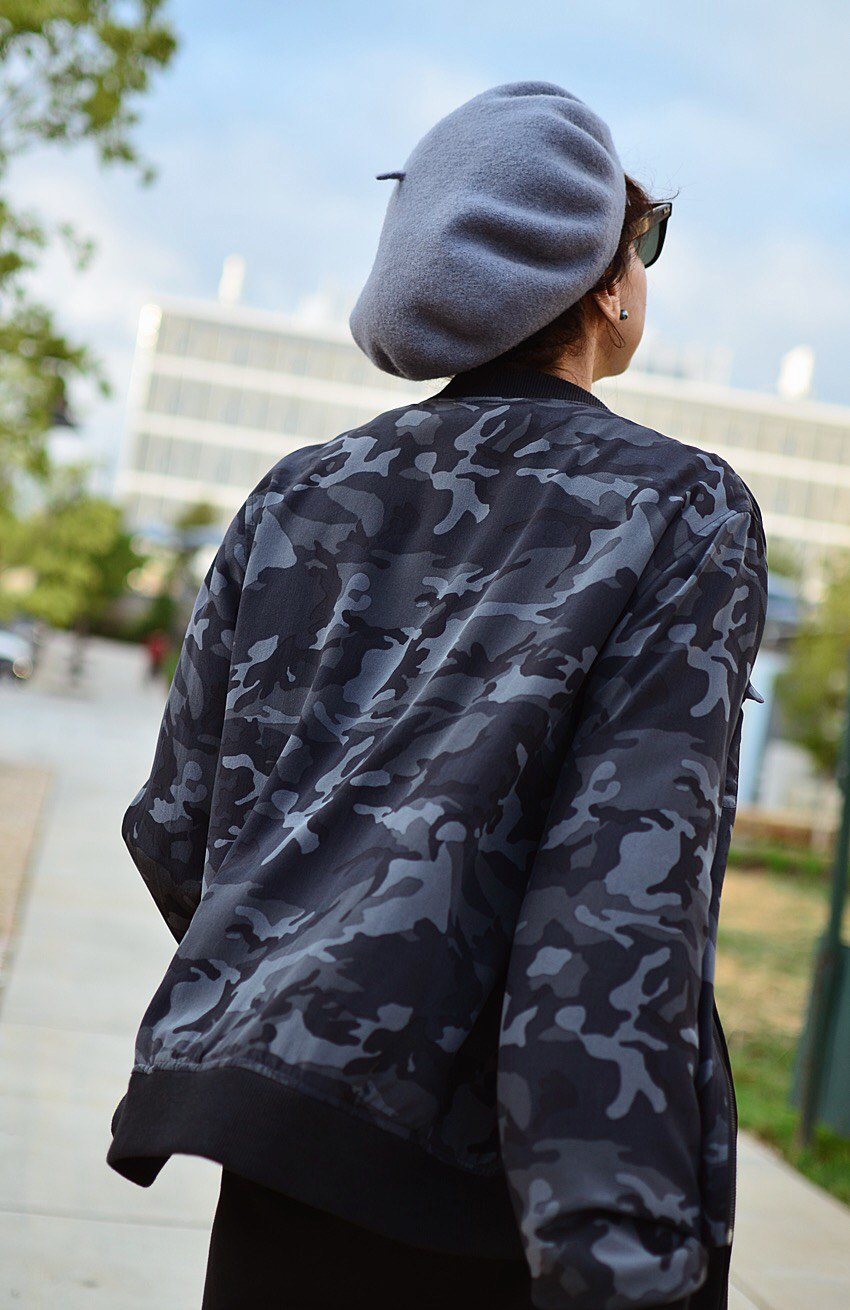 Beret hat street style