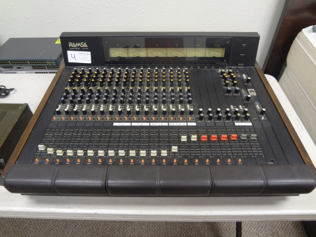 RAMSA Consoles - vintage mixing desks, console, and wr mixer from