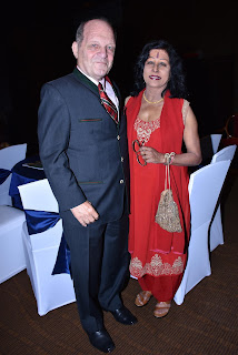 Herbert Traxl with wife Shovana Narayan