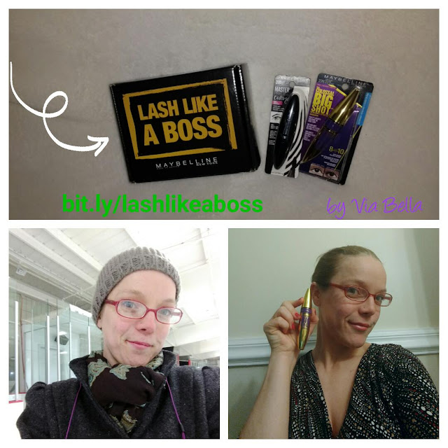 Lash Like A Boss, Maybelline, Influenster, Vox Box, Holidays, Make up, make up review, product review, tom boys wear make up too, Via Bella, beauty blogger, mama