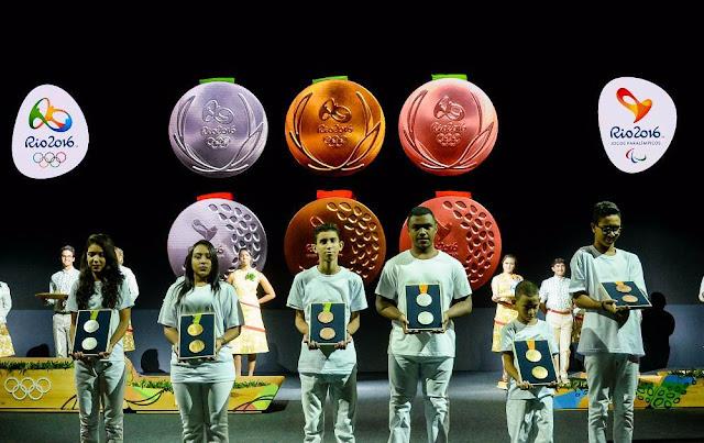Las medallas de Rio 2016 celebran el amor por la naturaleza