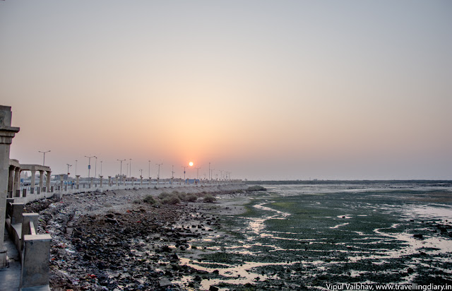 Sunrise of River Gomti, Dwarka
