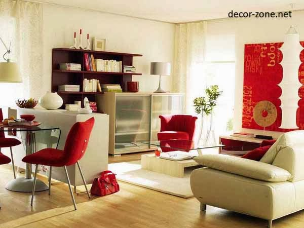 Stylish curtains for living room - ideas, designs, colors 2017 - red curtains for living room