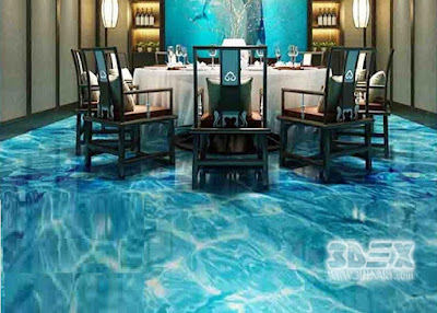 3D flooring designs for luxurious restaurants