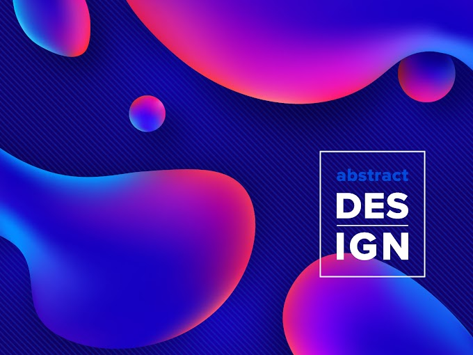 Colorful Liquid Gradient Shapes Vector Background