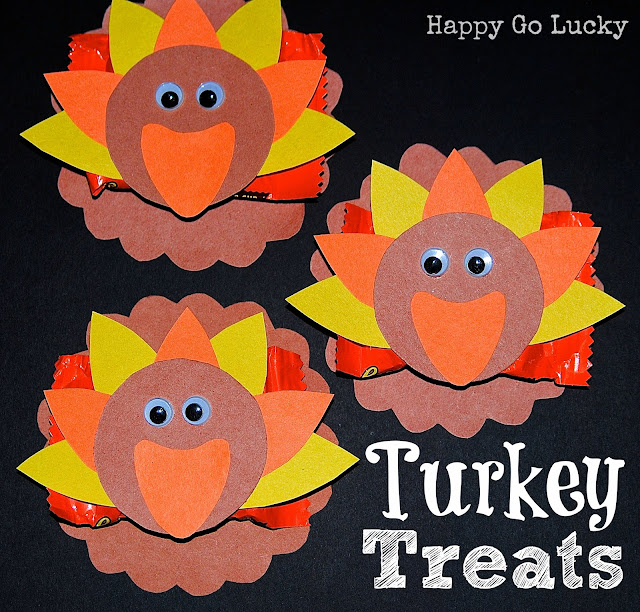 Thanksgiving Turkey Candy Bar Treat Wrappers