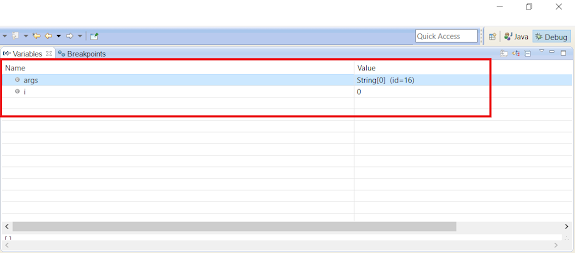 Watch values of Variables while debugging in Eclipse
