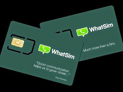 whatsim  شريحة الجديدة لاستعمال واتساب بدون أنترنت ولمدة عام كامل