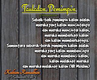 Kultum Ramadhan hari ke 27 tauladan pemimpin