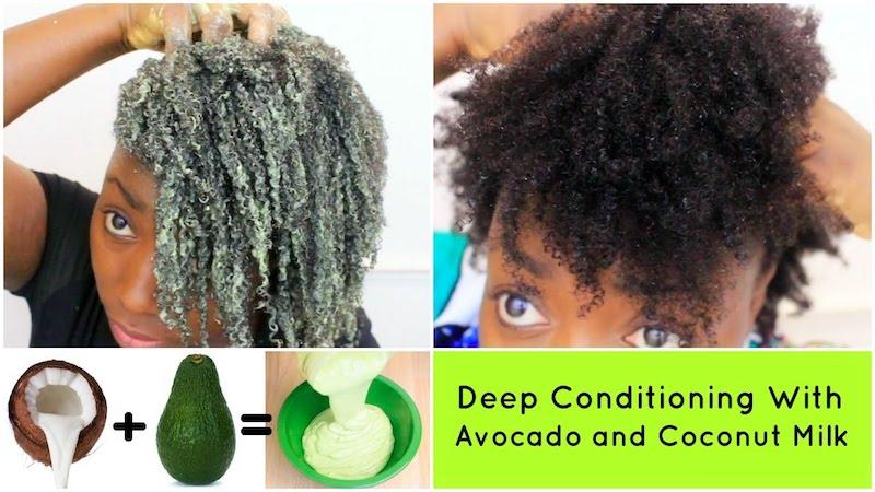 Avocado and Coconut Milk Cream Hair Conditioner
