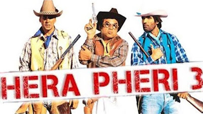 full cast and crew of bollywood movie Hera Pheri 3! umd, story, poster, trailer ft Sunil Shetty, John Abraham, Abhishek Bachchan, Paresh Rawal