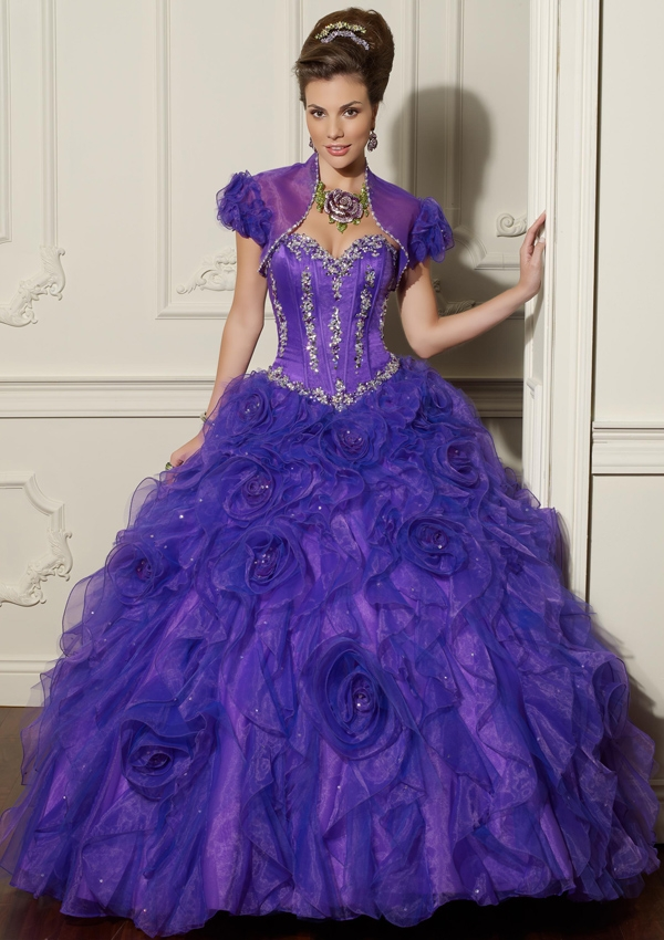 Bright Purple Wedding Gowns