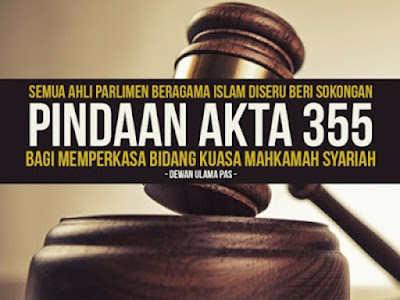MENJAWAB 10 SALAH FAHAM MENGENAI PINDAAN RUU AKTA MAHKAMAH SYARIAH (BIDANG KUASA JENAYAH) @ AKTA 355