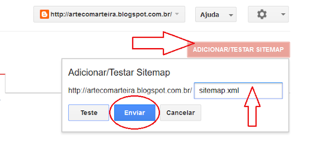 Adicionar sitemap do blog