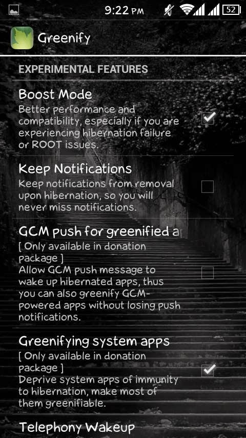 Greenify Experimental