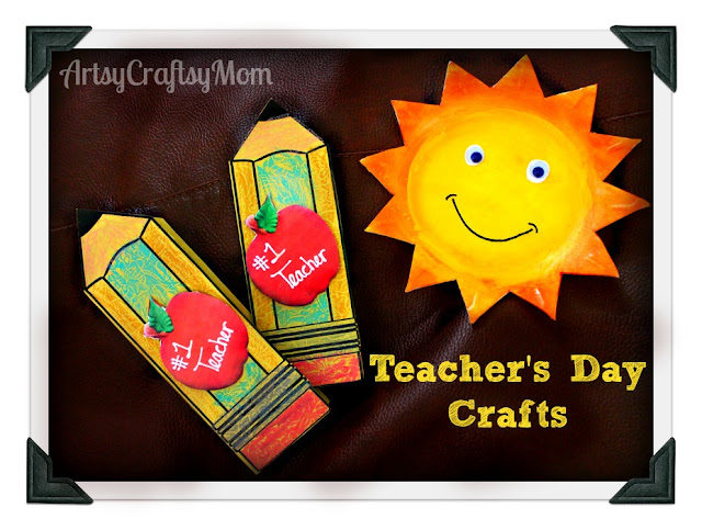 Attractive Teachers Day Card Making Ideas Part - 12: Teacher Day Card Stryfoam Plate Sun | From Our Post 20 Last Minute Handmade  Teacheru0027s Day