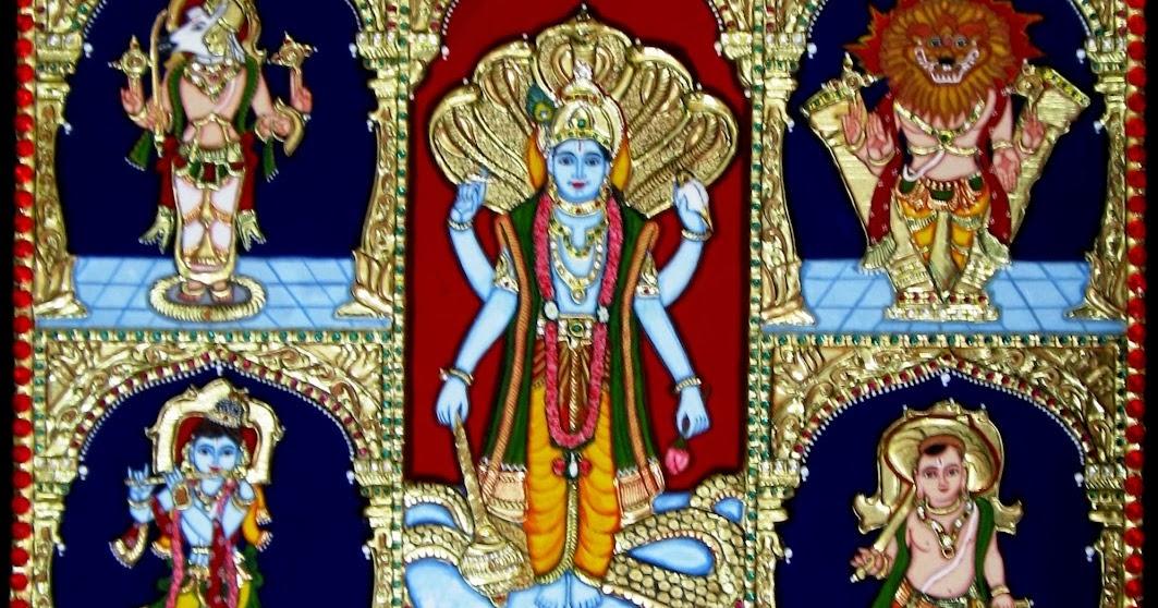 Dasavatharam - 10 incarnations of Vishnu