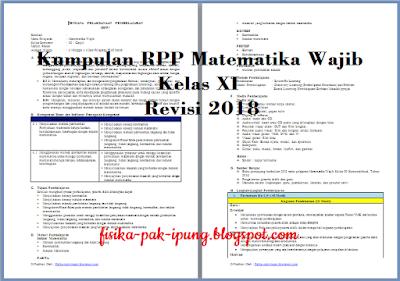 RPP Matematika Kelas XI Barisan dan Deret K13 Revisi 2018