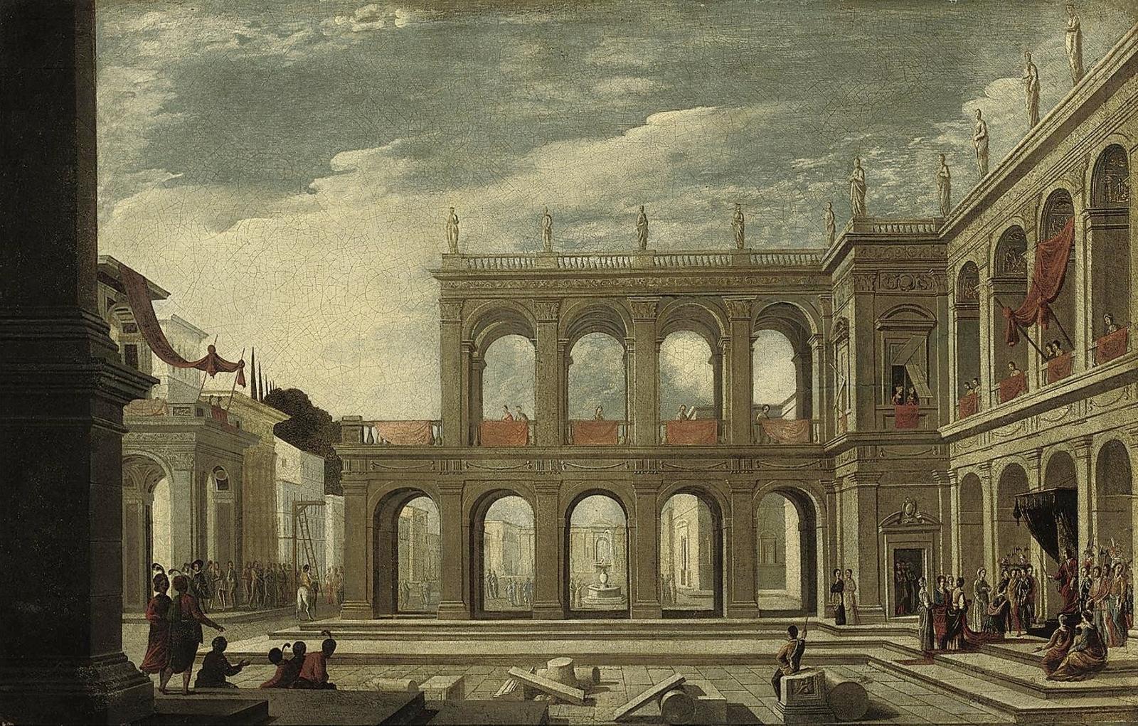 Renaissance architecture paintings for Architecture renaissance