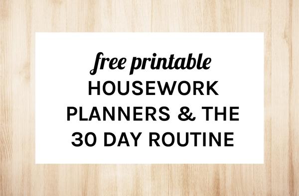 eliza ellis: HOME ORGANIZER: THE 30 DAY ROUTINE HOUSEWORK PLANNERS