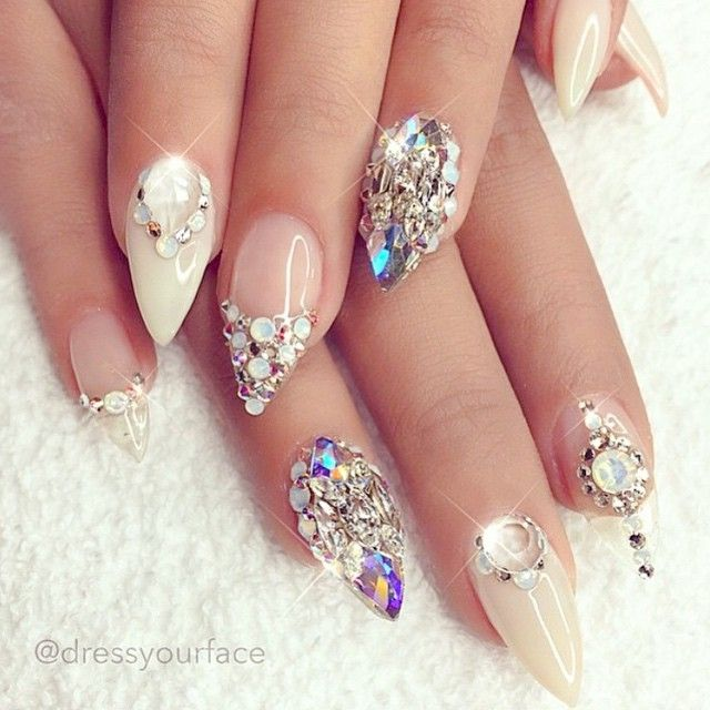 Glitter Glitter Everywhere Glitter And Stud Nail Art Ideas