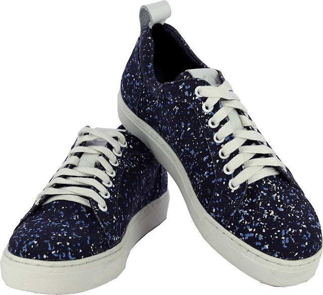 Blue Canvas Shoes by Alberto Torresi- Price- Rs. 1,995