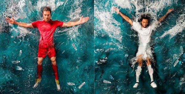 Adidas fez camisa de Bayern e Real Madrid com plástico retirado de oceano
