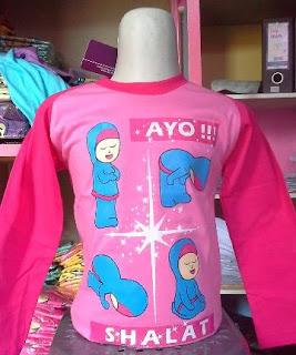 Kaos Raglan Anak Muslim Ayo Sholat Pink (KAM-AY-01)