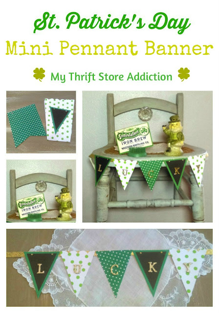 15 minute mini pennant banner