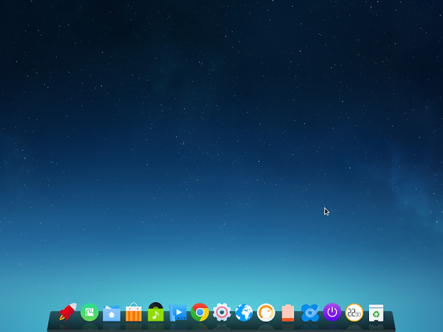 deepin desktop - first view