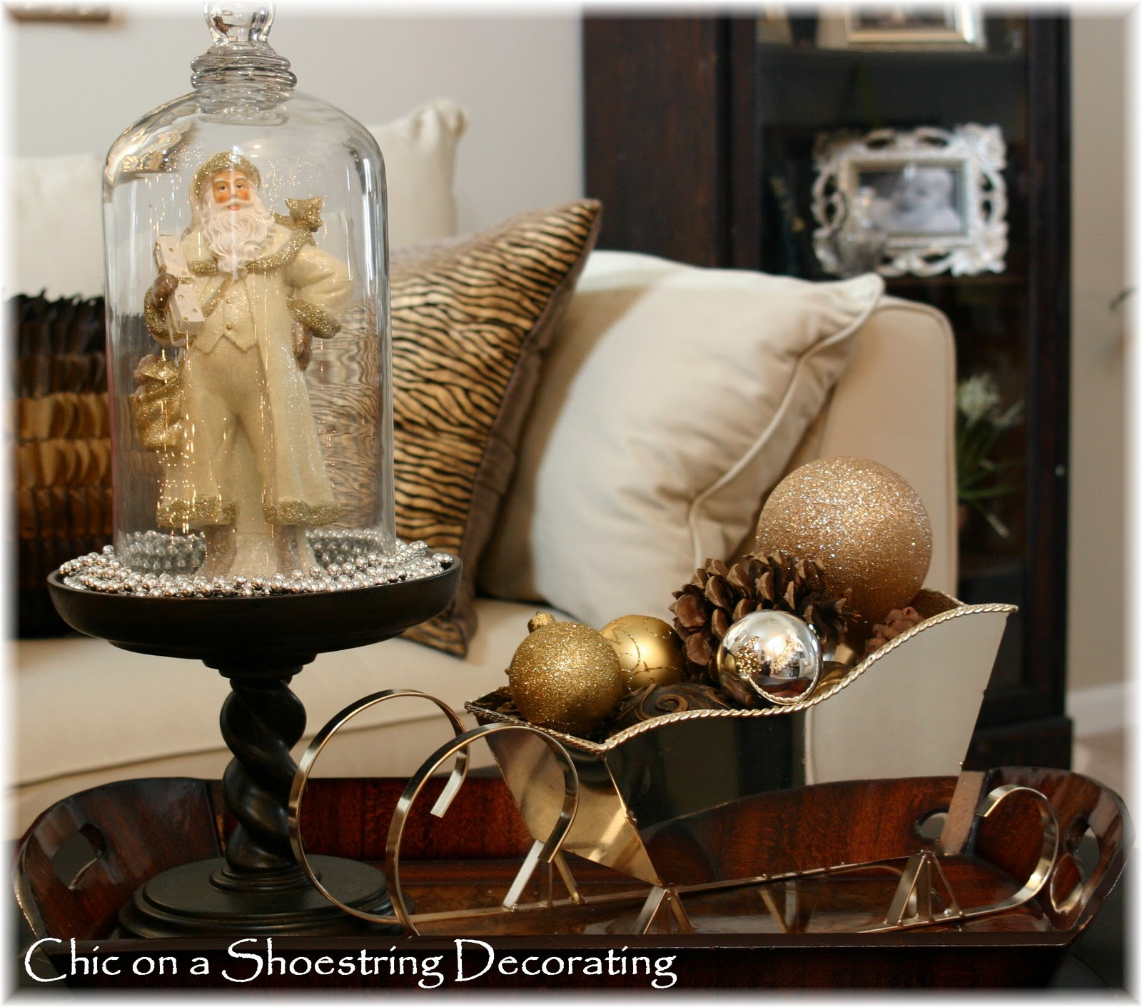 Chic On A Shoestring Decorating Christmas Home Tour 2011