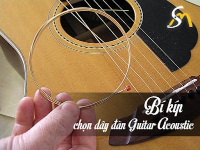 Lưu ý khi chọn mua dây đàn guitar acoustic