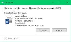 Cara mengatasai file yang tidak bisa dihapus pada windows