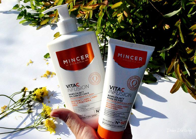 Mincer Pharma VitaC lnfusion Nawilżający balsam do ciała N°623 oraz Nawilżający krem do rąk N°625 - recenzja
