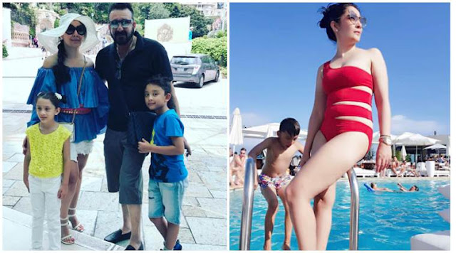 Maanayata Dutt poses in bikini and this mother of two is looking red-hot. See her vacation photos