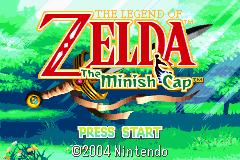 Pantalla inicial del videojuego The Legend of Zelda : The Minish Cap para Game Boy Advance en el año 2004