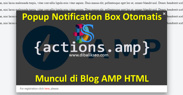 Popup Notification Box Otomatis