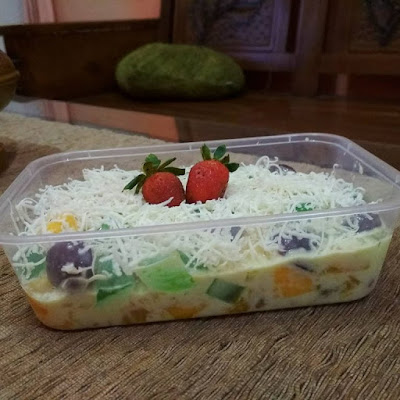 Cara Membuat Salad Buah Mayonaise Keju Susu