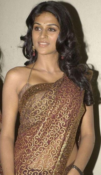 Shraddha das In Transparent Saree Pics