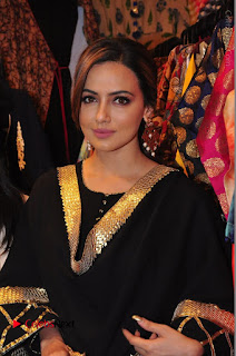 Bollywood Actress Sana Khan Launches Aakrithi Exibition  0139.JPG