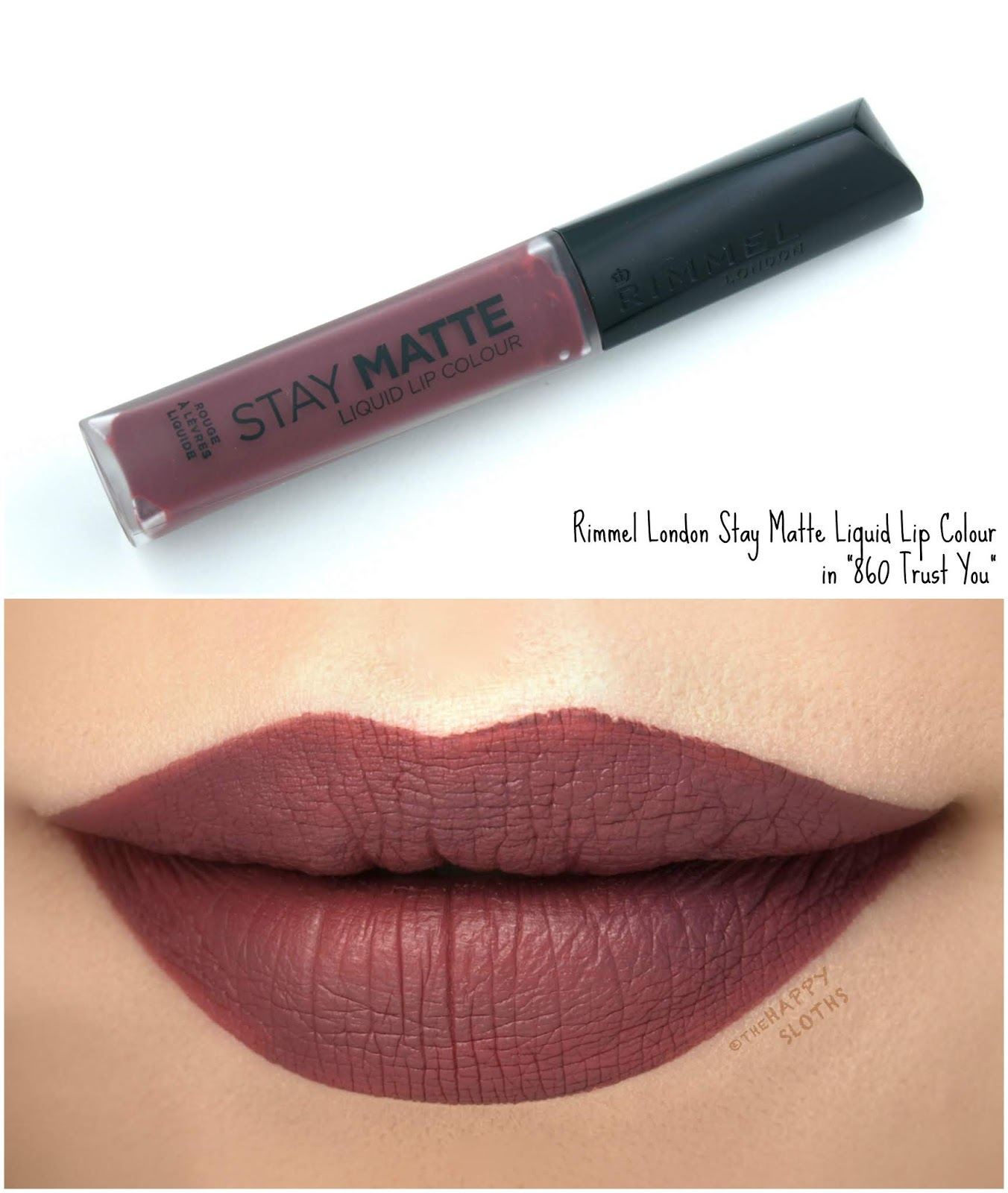 "Rimmel London | Stay Matte Liquid Lip Colour in ""860 Trust You"": Review and Swatches"