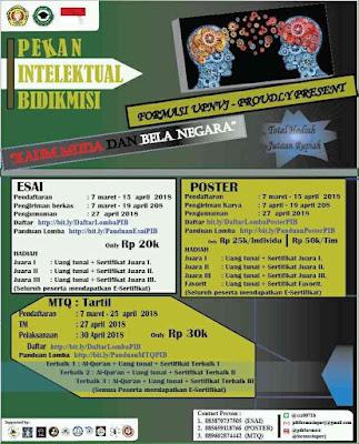 Lomba Desain Poster Nasional 2018 di UPN Jakarta