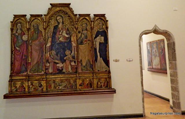 Peça de altar do Século 15 exposta no Palácio Abatellis de Palermo