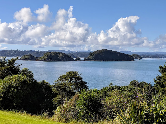 Auckland to Paihia: Scenic view in the Bay of Islands New Zealand