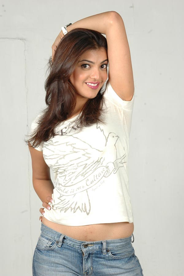 Kajal Agarwal Cute Photos In White Dress