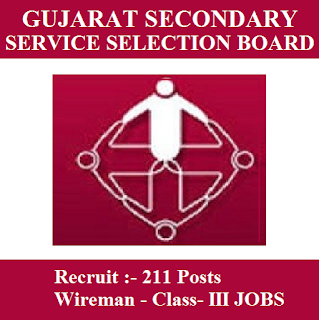 Gujarat Subordinate Service Selection Board, GSSSB, freejobalert, Sarkari Naukri, Latest Jobs, Wireman, Diploma, Gujarat, gsssb logo