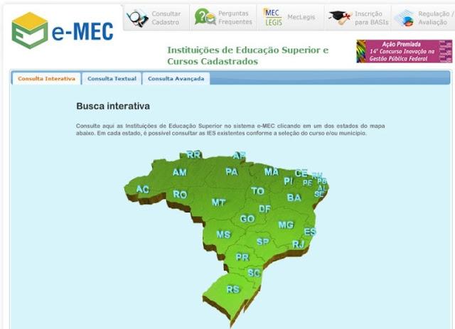 Sistema de buscas do Sistema e-MEC