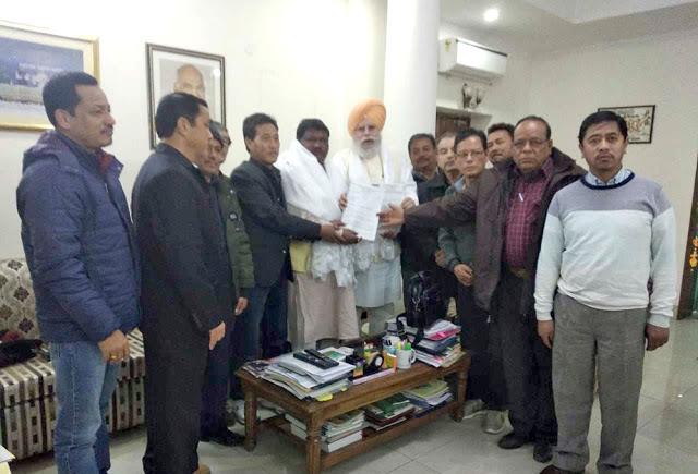 Bimal Supporter met Tribal minister Joel oram for 11 gorkha communities