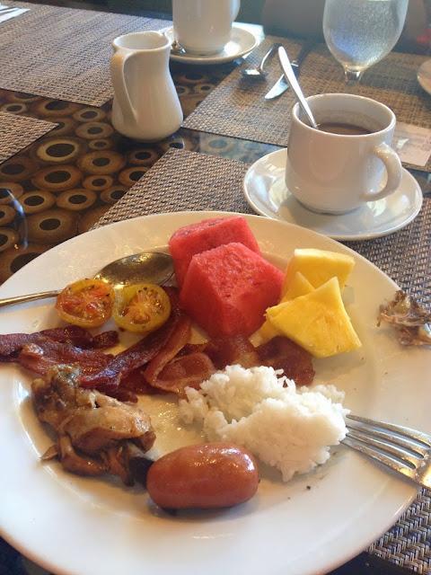 Good food at Bellevue Resort Bohol